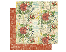 4501042 Papel doble cara July Flourish TIME TO FLOURISH Graphic45