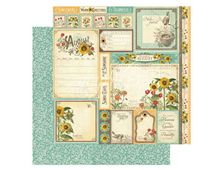 4501043 Papel doble cara August Cut Apart TIME TO FLOURISH Graphic45