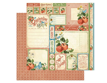 4501045 Papel doble cara September Cut Apart TIME TO FLOURISH Graphic45