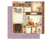 4501047 Papel doble cara October Cut Apart TIME TO FLOURISH Graphic45