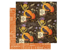 4501048 Papel doble cara October Flourish TIME TO FLOURISH Graphic45