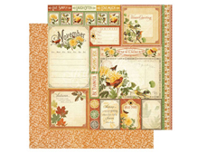 4501049 Papel doble cara November Cut Apart TIME TO FLOURISH Graphic45