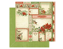 4501051 Papel doble cara December Cut Apart TIME TO FLOURISH Graphic45