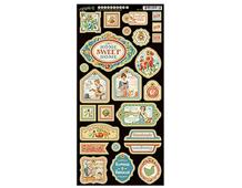 4501079 Carton con formas decorativas pre-cortadas HOME SWEET HOME Graphic45