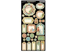 4501080 Carton con etiquetas diario pre-cortadas HOME SWEET HOME Graphic45