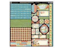 4501081 Pegatinas alfabeto y formas HOME SWEET HOME en hoja Graphic45