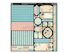 4501097 Pegatinas alfabeto y formas PRECIOUS MEMORIES en hoja Graphic45
