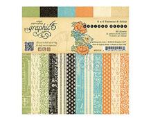 4501112 Set 36 papeles surtidos estampados base ARTISAN STYLE Graphic45