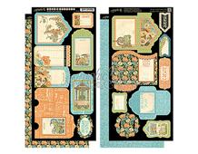 4501115 Set 2 hojas de papel doble cara con etiquetas pre-cortadas ARTISAN STYLE Graphic45