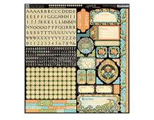 4501117 Pegatinas alfabeto y formas ARTISAN STYLE en hoja Graphic45