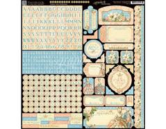 4501139 Pegatinas alfabeto y formas GILDED LILY en hoja Graphic45