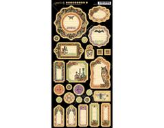 4501155 Carton con etiquetas diario pre-cortadas RARE ODDITIES Graphic45