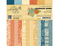 4501175 Set 36 papeles surtidos estampados base WORLD S FAIR Graphic45