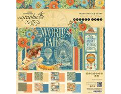 4501176 Set 24 papeles surtidos WORLD S FAIR Graphic45