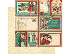 4501187 Papel doble cara CHRISTMAS CAROL Figgy Pudding Graphic45