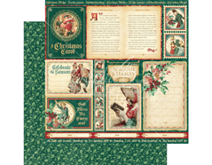4501192 Papel doble cara CHRISTMAS CAROL Scrooge and Marley Graphic45