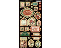 4501197 Carton con formas decorativas pre-cortadas CHRISTMAS CAROL Graphic45