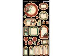 4501198 Carton con etiquetas diario pre-cortadas CHRISTMAS CAROL Graphic45
