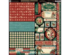 4501199 Pegatinas alfabeto y formas CHRISTMAS CAROL Graphic45