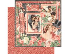 4501203 Papel doble cara MON AMOUR Mon Amour Graphic45