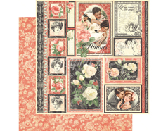 4501205 Papel doble cara MON AMOUR One and Only Graphic45
