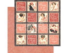 4501210 Papel doble cara MON AMOUR Forever Mine Graphic45 - Ítem