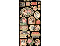 4501215 Carton con formas decorativas pre-cortadas MON AMOUR Graphic45