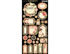4501216 Carton con etiquetas diario pre-cortadas MON AMOUR Graphic45 - Ítem