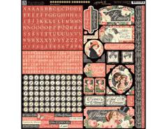 4501217 Pegatinas alfabeto y formas MON AMOUR Graphic45