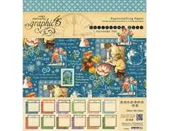 4501250 Set 12 papeles calendario CHILDREN S HOUR Graphic45