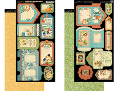 4501254 Set 2 hojas de papel doble cara con etiquetas pre-cortadas CHILDREN S HOUR Graphic45