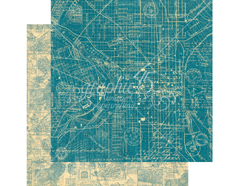 4501303 Papel doble cara CITYSCAPES Map the Past Graphic45