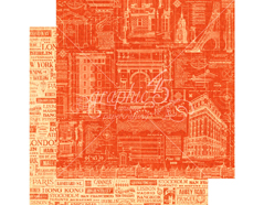 4501305 Papel doble cara CITYSCAPES Street of Dreams Graphic45
