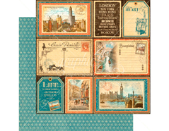 4501309 Papel doble cara CITYSCAPES Grand Tour Graphic45