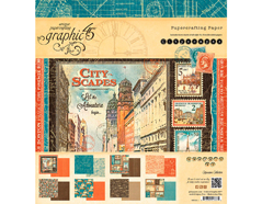 4501311 Set 24 papeles surtidos CITYSCAPES Graphic45