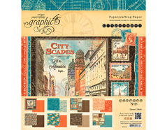 4501312 Set 24 papeles surtidos CITYSCAPES Graphic45