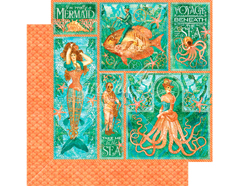 4501322 Papel doble cara VOYAGE BENEATH THE SEA Mermaid Melody Graphic45