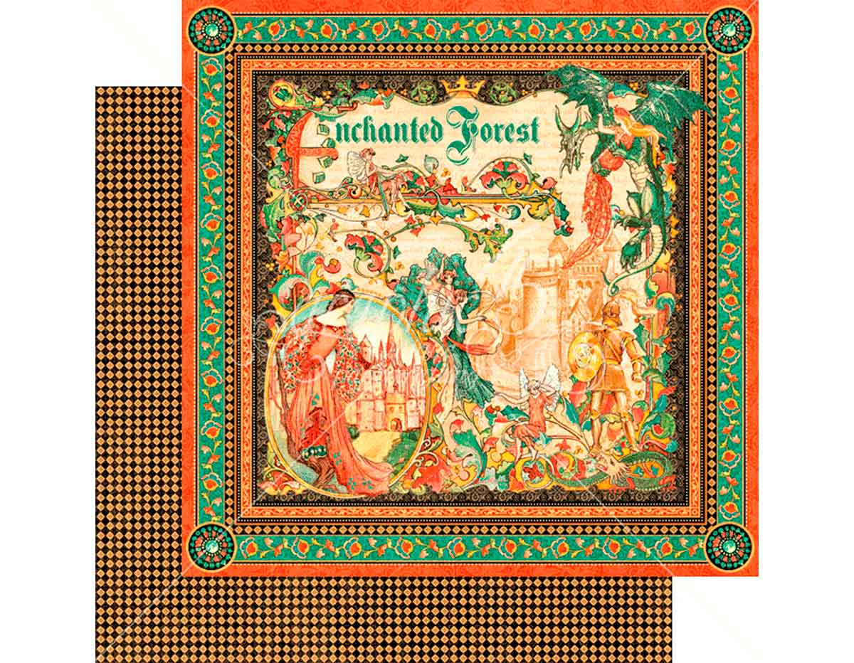 4501338 Papel doble cara ENCHANTED FOREST Enchanted Forest Graphic45