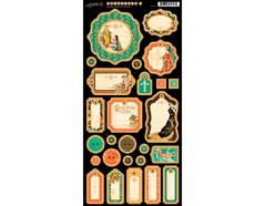 4501351 Carton con etiquetas diario pre-cortadas ENCHANTED FOREST Graphic45