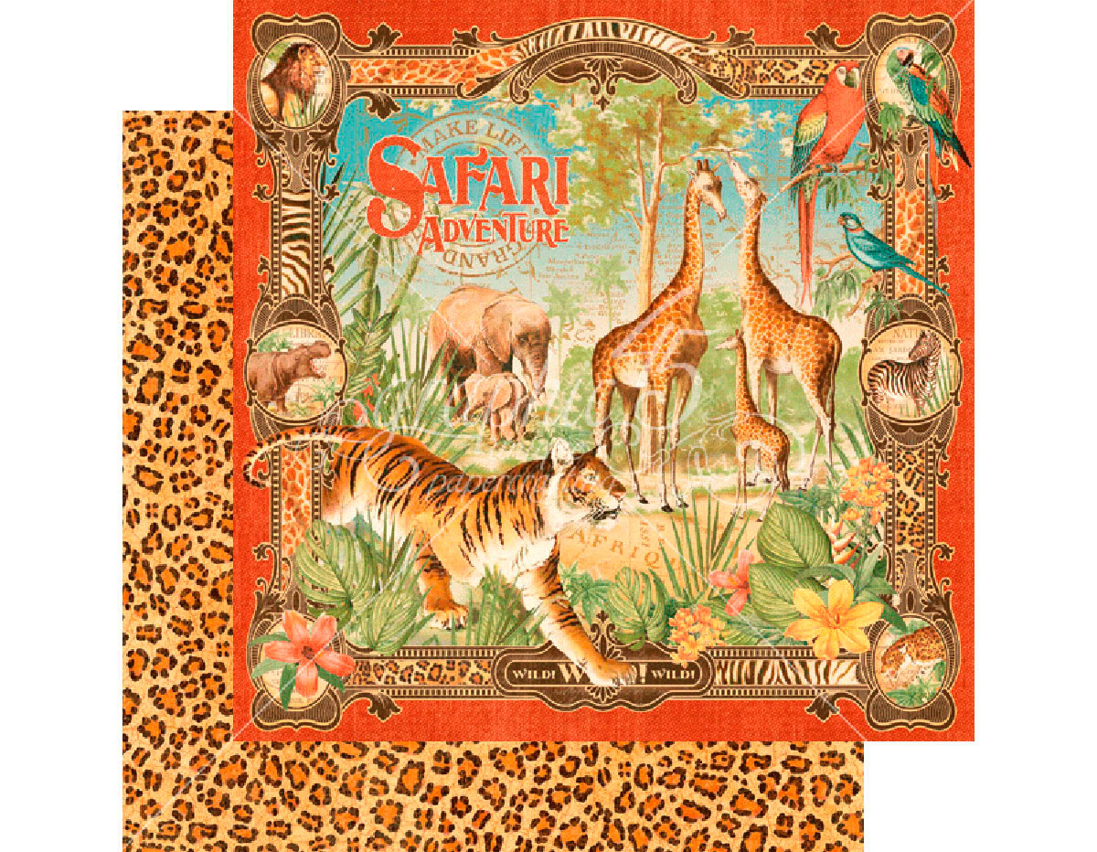 4501356 Papel doble cara SAFARI ADVENTURE Safari Adventure Graphic45