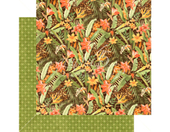 4501357 Papel doble cara SAFARI ADVENTURE Lush Landscape Graphic45