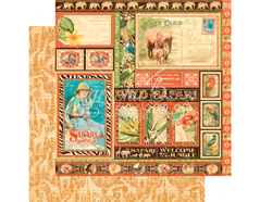 4501362 Papel doble cara SAFARI ADVENTURE Amazing Africa Graphic45