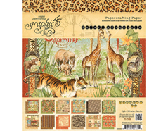 4501368 Set 24 papeles surtidos SAFARI ADVENTURE Graphic45