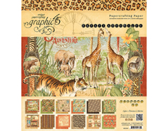 4501369 Set 24 papeles surtidos SAFARI ADVENTURE Graphic45