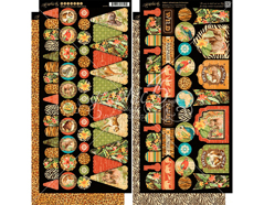 4501371 Set 2 hojas de papel doble cara con etiquetes pre-cortadas SAFARI ADVENTURE Graphic45