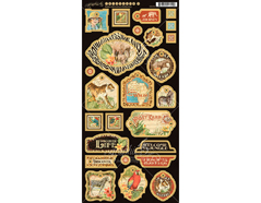 4501372 Carton con formas decorativas pre-cortadas SAFARI ADVENTURE Graphic45