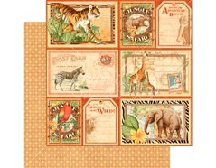4501376 Papel dobel cara SAFARI ADVENTURE Jungle Expedition Graphic45