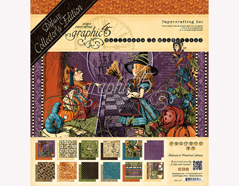 4501377 Set 24 papeles surtidos HALLOWE EN IN WONDERLAND Graphic45