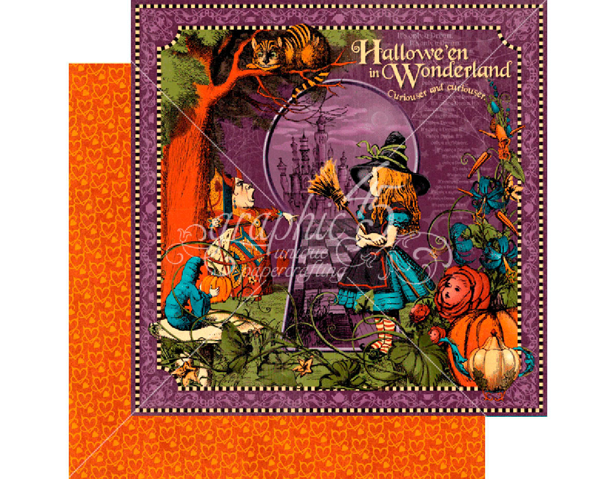 4501378 Papel dobel cara HALLOWE EN IN WONDERLAND Hallowe en in Wonderland Graphic45