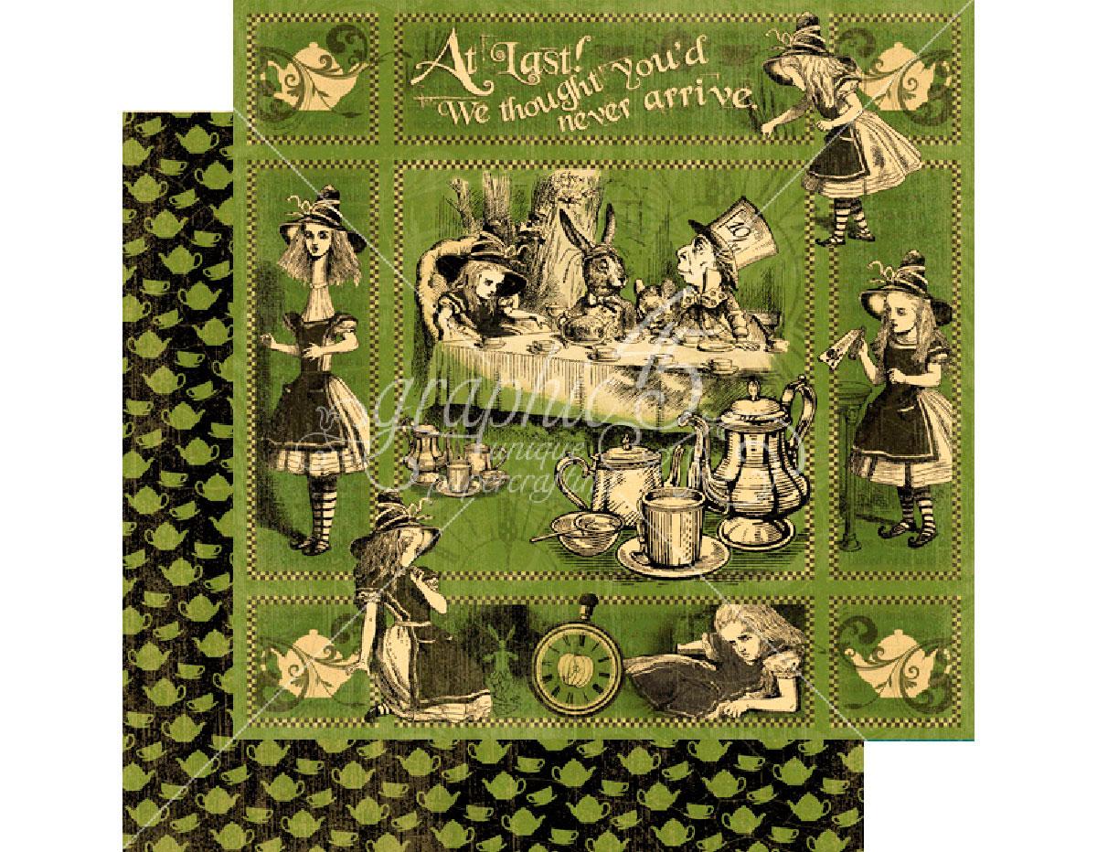4501380 Papel dobel cara HALLOWE EN IN WONDERLAND Alice s Tea Party Graphic45
